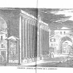Le colonne in un disegno del 1600
