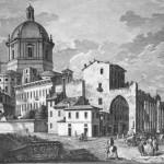 Veduta della Basilica, XVIII sec.