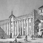Veduta delle colonne all'inizio del XIX sec.