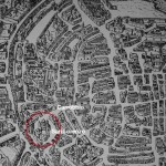 Pianta prospettica di Milano. Lafréry 1573, particolare